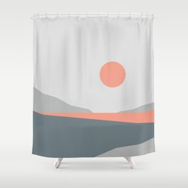Abstract Landscape 01 Shower Curtain