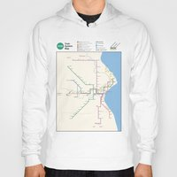 milwaukee Hoodies featuring Milwaukee Transit System Map by Carticulate Maps