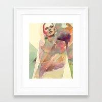 ali gulec Framed Art Prints featuring Ali by Beth Zimmerman Illustration