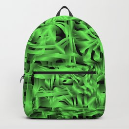 Unusual doodle in gentle colors with a royal green tint. Backpack