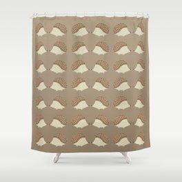 Hedgehog Togetherness Shower Curtain