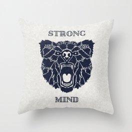 Strong Mind Throw Pillow
