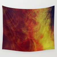desert Wall Tapestries featuring desert by donphil
