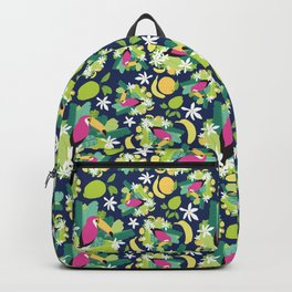 Toucans Everywhere - Blue Backpack