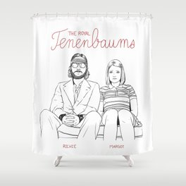 The Royal Tenenbaums (Richie and Margot) Shower Curtain