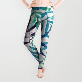 Watercolor Tropical Palm Leaves XI Leggings