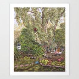 Faerie Garden Letters Art Print