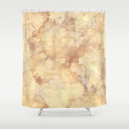 Elegant vintage faux gold boho chic marble Shower Curtain