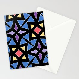 Stained Glass Color Pattern Art Stationery Cards
