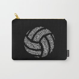 White Volleyball Wordcloud - Gift Carry-All Pouch