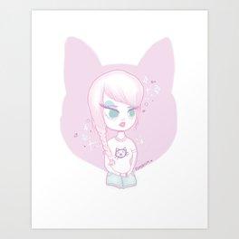 Pincat Art Print
