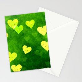 Beautiful yellow hearts Stationery Cards