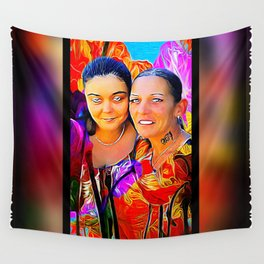 Friends 01: Cyndi & Candy 01 Wall Tapestry