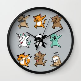 Dabbing Party Wall Clock