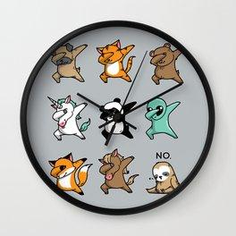 Dabbing Party Wall Clock