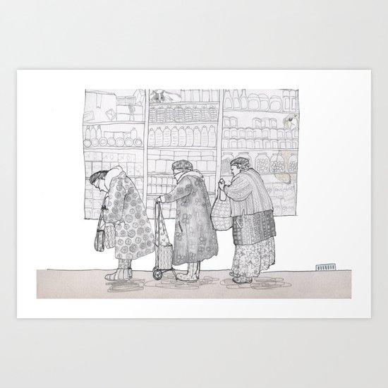street scene Art Print