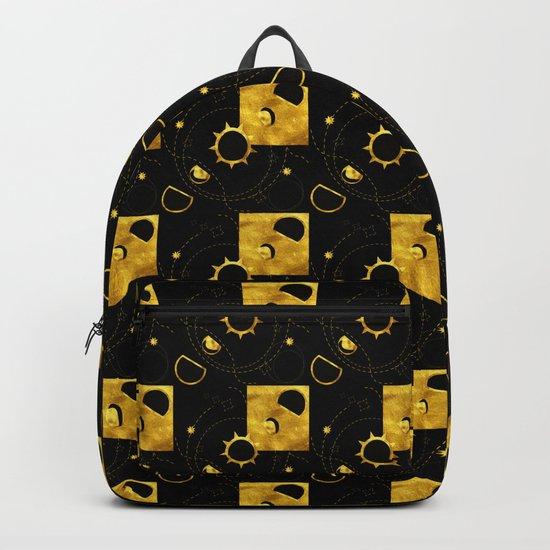 Solar Eclipse black gold Backpack