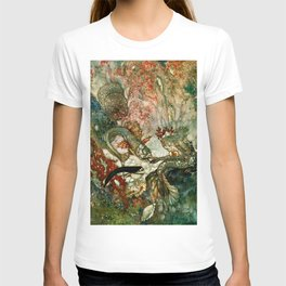 """""""King of the Mermaids"""" Fairy Tale Art by Edmund Dulac T-shirt"""