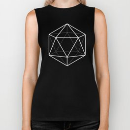 Icosahedron Soft Grey Biker Tank