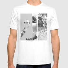 ** White MEDIUM Mens Fitted Tee