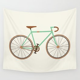 Green Fixie Wall Tapestry