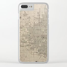 19th Century Topographical Vintage Antique Map Philadelphia America Steampunk Clear iPhone Case