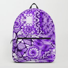 Purple Zentangle Tile Doodle Design Backpack