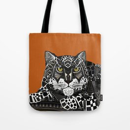 snow leopard orange Tote Bag