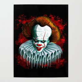 The Dancing Clown - Pennywise IT - Vector - Stephen King Character Poster