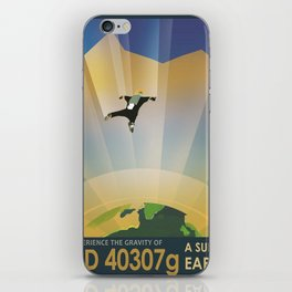 A Super Earth Retro Space Poster iPhone Skin