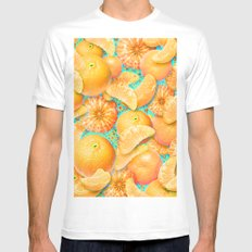 Clementine Mens Fitted Tee White MEDIUM