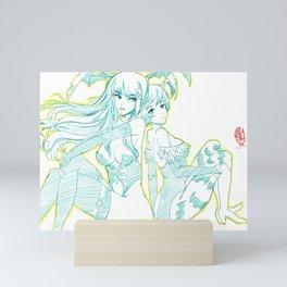 Morrigan and Lilith 01 Mini Art Print