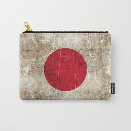 Vintage Aged and Scratched Japanese Flag Carry-All Pouch