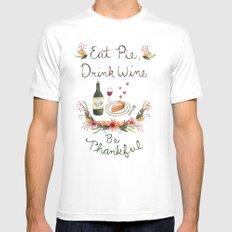 Be Thankful Mens Fitted Tee White MEDIUM