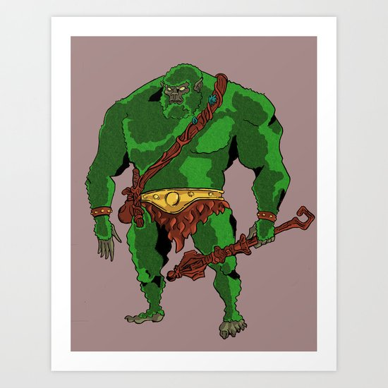Masters of the Universe Mossman Art Print
