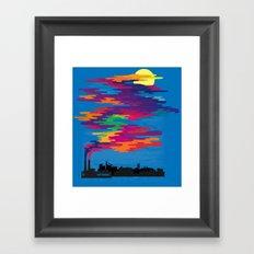 Hidden in the Smog (day) Framed Art Print