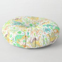Happy Dinos - citrus colors Floor Pillow