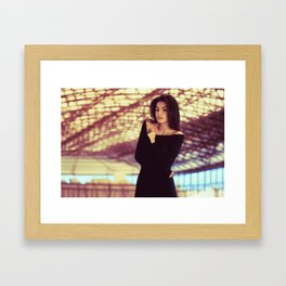 Lady Olive Framed Art Print