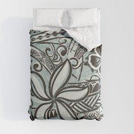 Hawaiian Slate Ocean Spray Print Comforters
