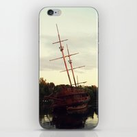 pirate ship iPhone & iPod Skins featuring Pirate Ship by BrandiNicole-Photography&Design