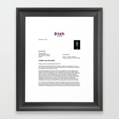Ditch Projects Press Release (Page 1) Framed Art Print