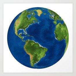 the globe Art Print