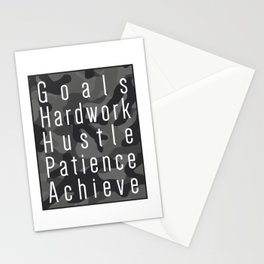 Way to success - goals, hardwork, hustle, patience, achieve Stationery Cards