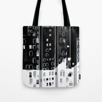 street Tote Bags featuring Street by Lynsey Ledray