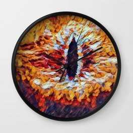 Lord Rings Eye Artistic Illustration Material Presence Style Wall Clock