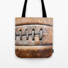 Old leather soccer ball Tote Bag