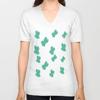 cacti V-neck T-shirts featuring Cacti by Hello Lidy
