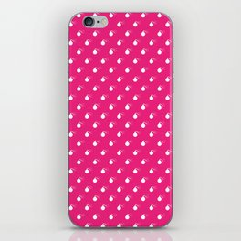 HOT PINK & WHITE BOMB DIGGITYS ALL OVER LARGE iPhone Skin