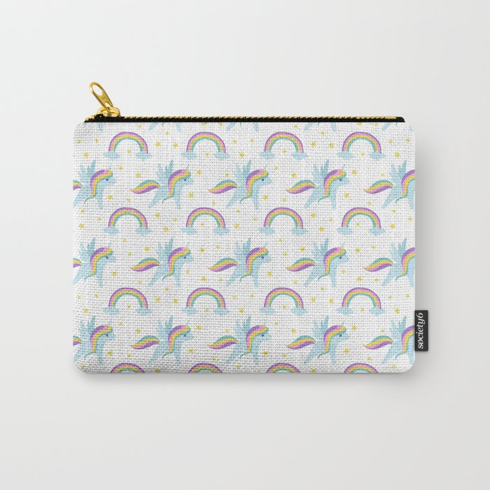 Cute abstract magical pink rainbow unicorn pattern Carry-All Pouch