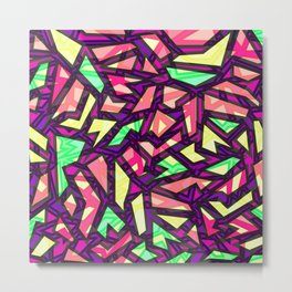 Abstract Puzzle Mind Metal Print
